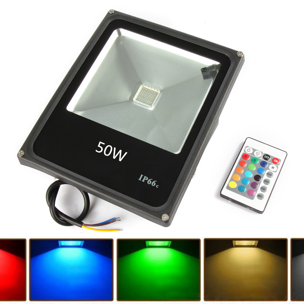 4pcs led floodlight 50w rgb reflector led flood light spotlight 4pcs led floodlight 50w rgb reflector led flood light spotlight 220v 110v waterproof outdoor lighting wall lamp projectors in floodlights from lights mozeypictures Choice Image
