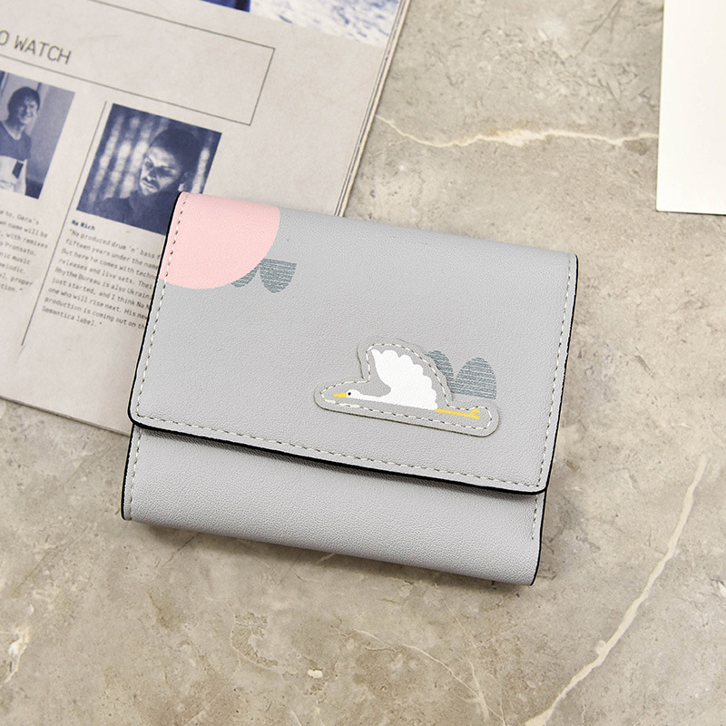PACGOTH 2018 New Kawaii Multi-function PU Leather Wallets Fashion Animal Prints Patroy Owl Flamingo Card Money Cash Holders 1PC ...