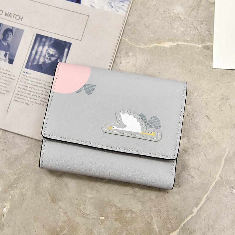 PACGOTH 2018 New Kawaii Multi-function PU Leather Wallets Fashion Animal Prints Patroy Owl Flamingo Card Money Cash Holders 1PC