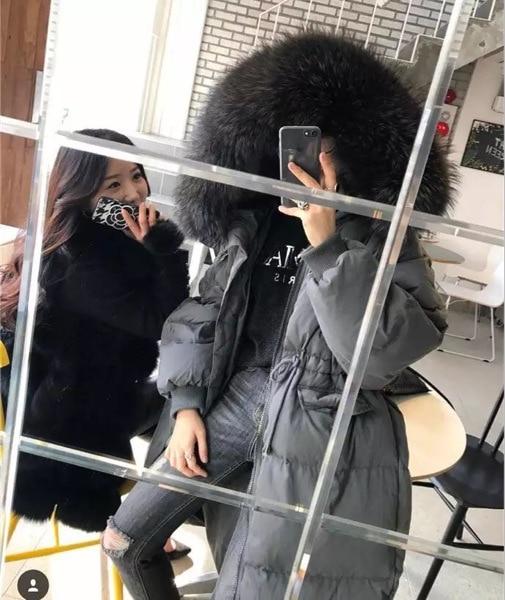 Nouveau green D'hiver Femmes Réglable Raton Grand Collier Bas Blanc 2018 Canard Le Mode Chien black Beige Manteaux Taille Automne grey Vers De Vestes Laveur Duvet SqFvOPqH