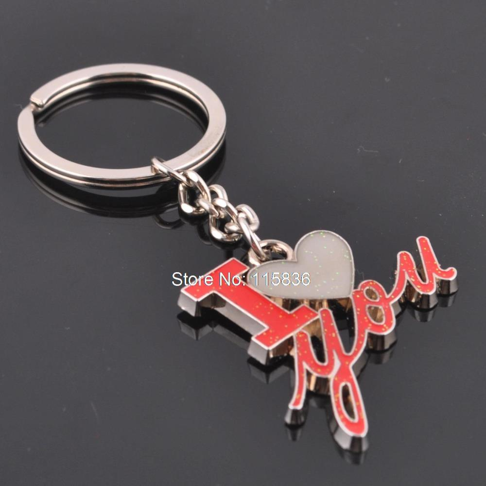 Fashion New Hot Personalized Letters I LOVE YOU Creative Enamel Alphabet Keychain Love Heart For Girlfriend Keyrings In Key Chains From Jewelry