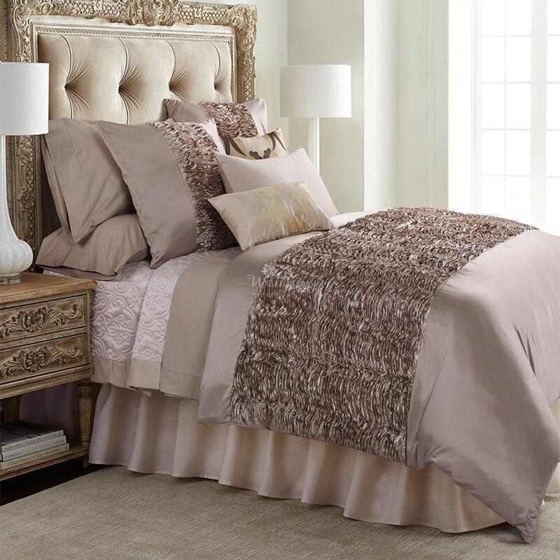 Ensemble de literie en soie de luxe literie Queen/King Size Tencel Satin housse de couette taies d'oreiller drap de lit Jacquard literie couverture de lit