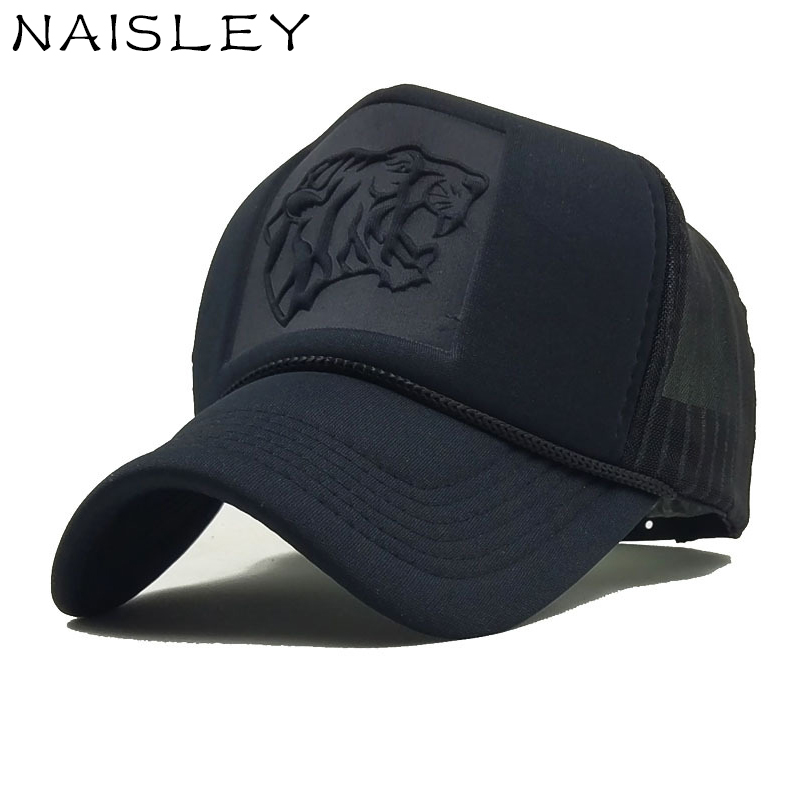 NAISLEY Casual Male Baseball Cap Pointed Tiger Cap Mesh Hat Bone Snapback Cap Men Women Casquette Gorras Hip Hop Hat Dad Hat New cacuss new metal anchor baseball cap men hat hip hop boys fashion solid flat snapback caps male gorras 2017 adjustable snapback