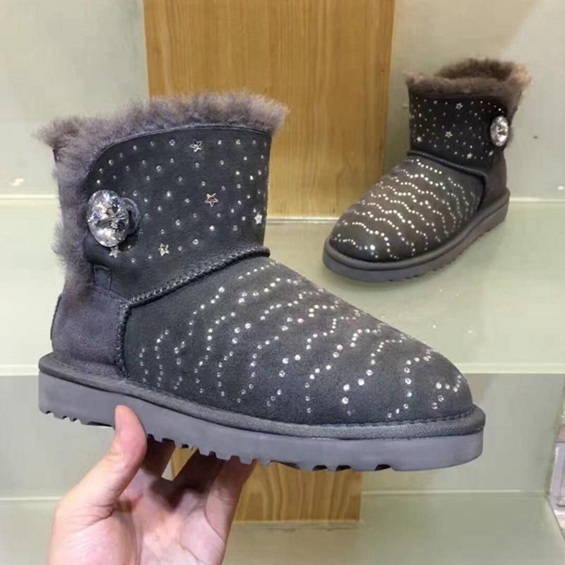 High quality snow boots 2017 winter new diamond snow boots 100% australian...