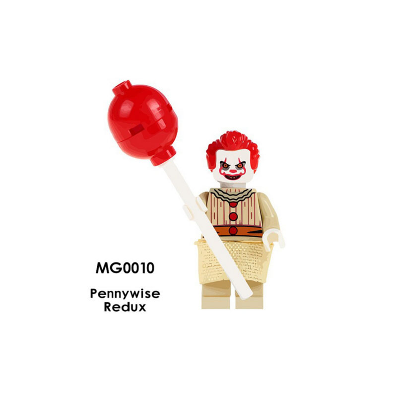 Single Sale Super Heroes Star Wars MG0010 Pennywise Redux Mini Building Blocks Figure Bricks Toys Gift Compatible Legoed Ninjaed
