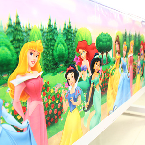 Image 1 - 108x180cm Princess Tablecloth Kids Girls Happy Birthday Party Decorations Adult Party Supplies Anniversaire