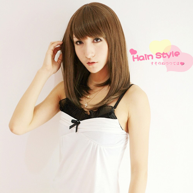 Girls non-mainstream wig bobo pear hair wig short hair women's wifing pear wig
