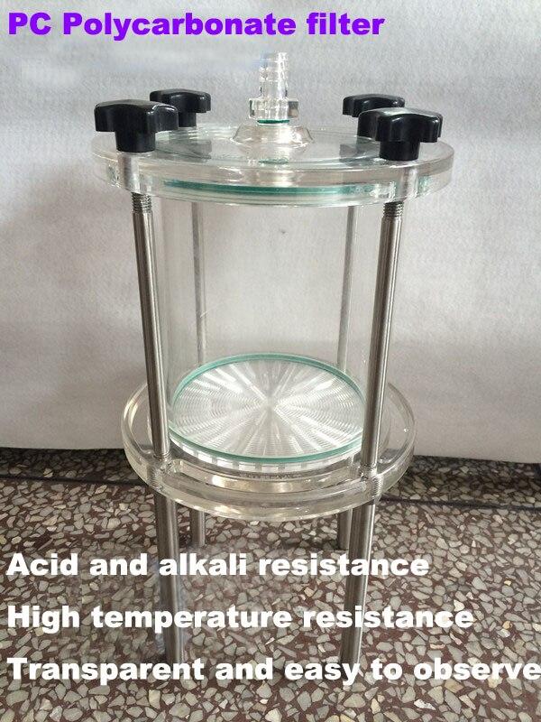 Water treatment PC polycarbonate, plexiglass bucket positive pressure filter, microporous membrane filtration, acid and alkali r