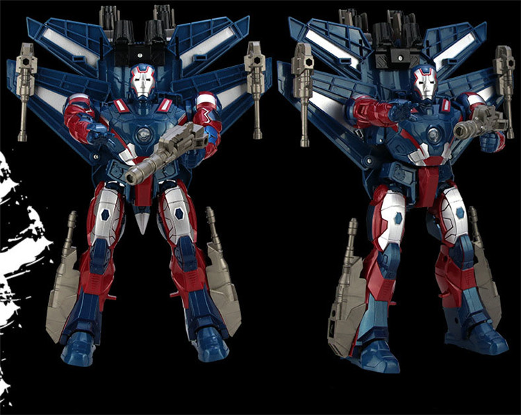 Red Blue Air hot Quality Hot 26cm Big Ir on Man Hero aircraft Transformation Plastic