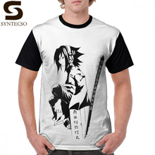 Shaman King T Shirt Shaman King Yoh Black T-Shirt 100 Percent Polyester 5x Graphic Tee Shirt Fun Graphic Classic Man Tshirt все цены