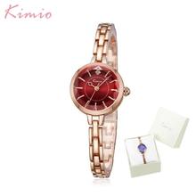 Kimio kleine wijzerplaat mode toevallige vrouwen horloges legering armband horloges quartz klok relogio feminino jurk meisje cadeau met doos