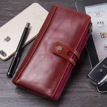 Hot Sale 2019 Wallet Brand Genuine Leather Women Wallets Female Card Holder Long Lady Clutch Carteira Feminina Coin Purse New цена в Москве и Питере