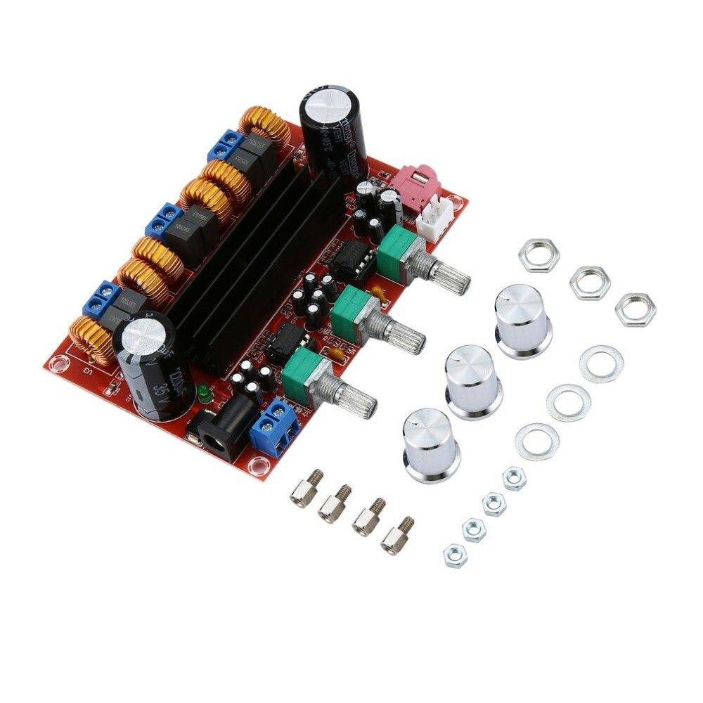 Neue Version High power Verstärker Dual Chip TPA3116D2 50Wx2 + 100 W 2,1 Pfad Digitale Subwoofer Power Verstärker Bord Dropshipping