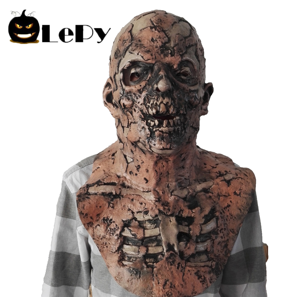 hot sale lepy scary halloween mask zombie latex bloody scary