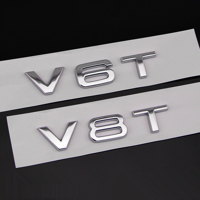 Audi Q A TT A PCS Car Chrome VT VT Badge Emblem Genuine OEM - Audi car emblem
