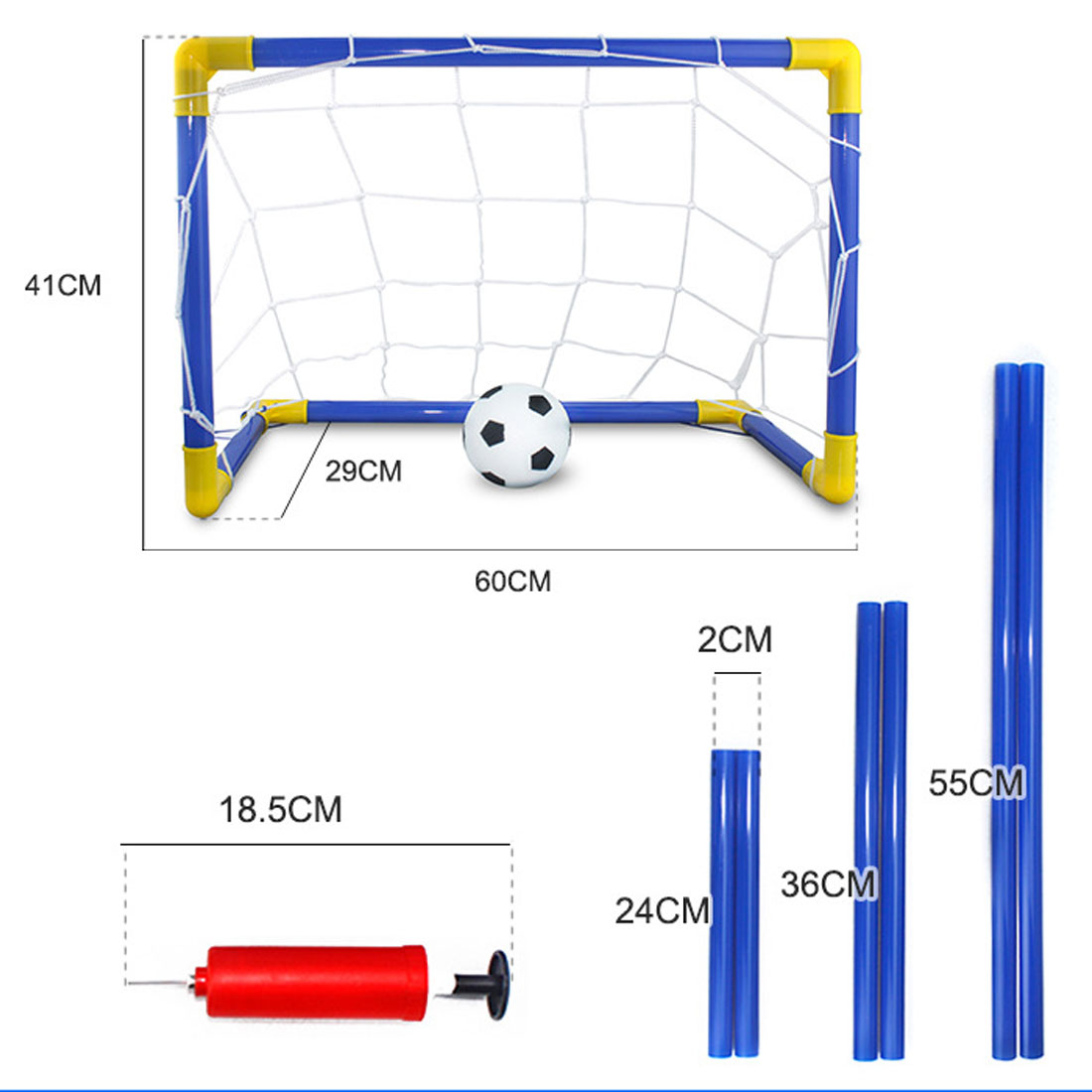 New 1 Set Children Sports Soccer Goals With Soccer Ball And Pump Outdoor Sports Practice Scrimmage Game Detachable Football Gate