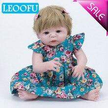 LEOOFU 55cm 22inch lifestyle bebe reborn doll soft silicone