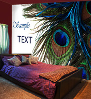 [Self Adhesive] 3D Peacock Feather 22 Wall Paper mural Wall Print Decal Wall Murals