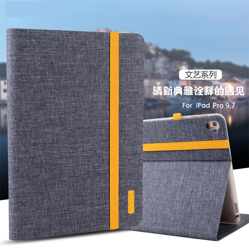 Case For Apple iPad Pro 9.7 inch Smart Cover Ultra Thin Cloth PU Leather+Soft TPU Folio Stand Casual style Case Protective Shell