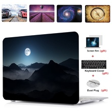 4in1 Pattern painting Laptop Case Cover For Apple Macbook Air 11 13 incb Pro Retina Touch Bar& ID 12 15 inch A1932 A1990