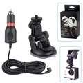 action camera 3 meters car charger holder mount for sjcam sj4000 sj5000 SJ5000 ELITE eken h9r H8R H3R Gitup amokov