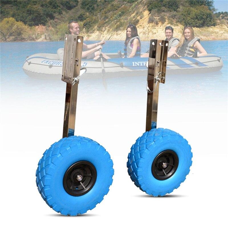 Date bateau en acier inoxydable Traverse Lancement Roue Pour bateaux gonflables Kayak Canot Yacht Radeau Chariot Kayak Accessoires