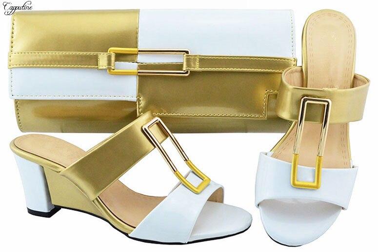 Tasche Abend Lila Gelb Schuhe Höhe Charming Cm Ferse Und Keil 7 Party Jzc007 Sandale Set q7nzav