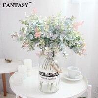 40cm 35cm 가짜 유칼립투스 잎 인공 꽃 플라스틱 나뭇 가지 거짓 식물 꽃다발 꽃 정렬 홈 실내 장식