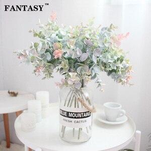 40cm 35cm Fake Eucalyptus Leaves Artificial Flower Plastic Tree Branch False Plant Bouquet Flower Arrange Home Indoor Decor(China)