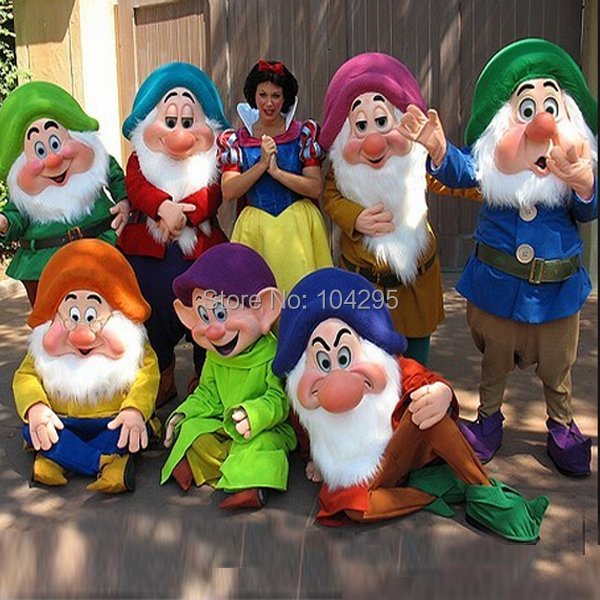 US $1399 0 |ohleesReal Pictures Deluxe Dopey doctor Bashful Seven Dwarfs  Mascot costume Adult SIZE Halloween Easter party custom made-in Mascot from
