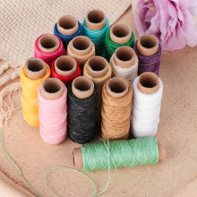 30m/Roll 1mm Durable Waxed Thread Cotton Cord String Strap Hand Stitching Thread For Leather Material Handcraft Tool