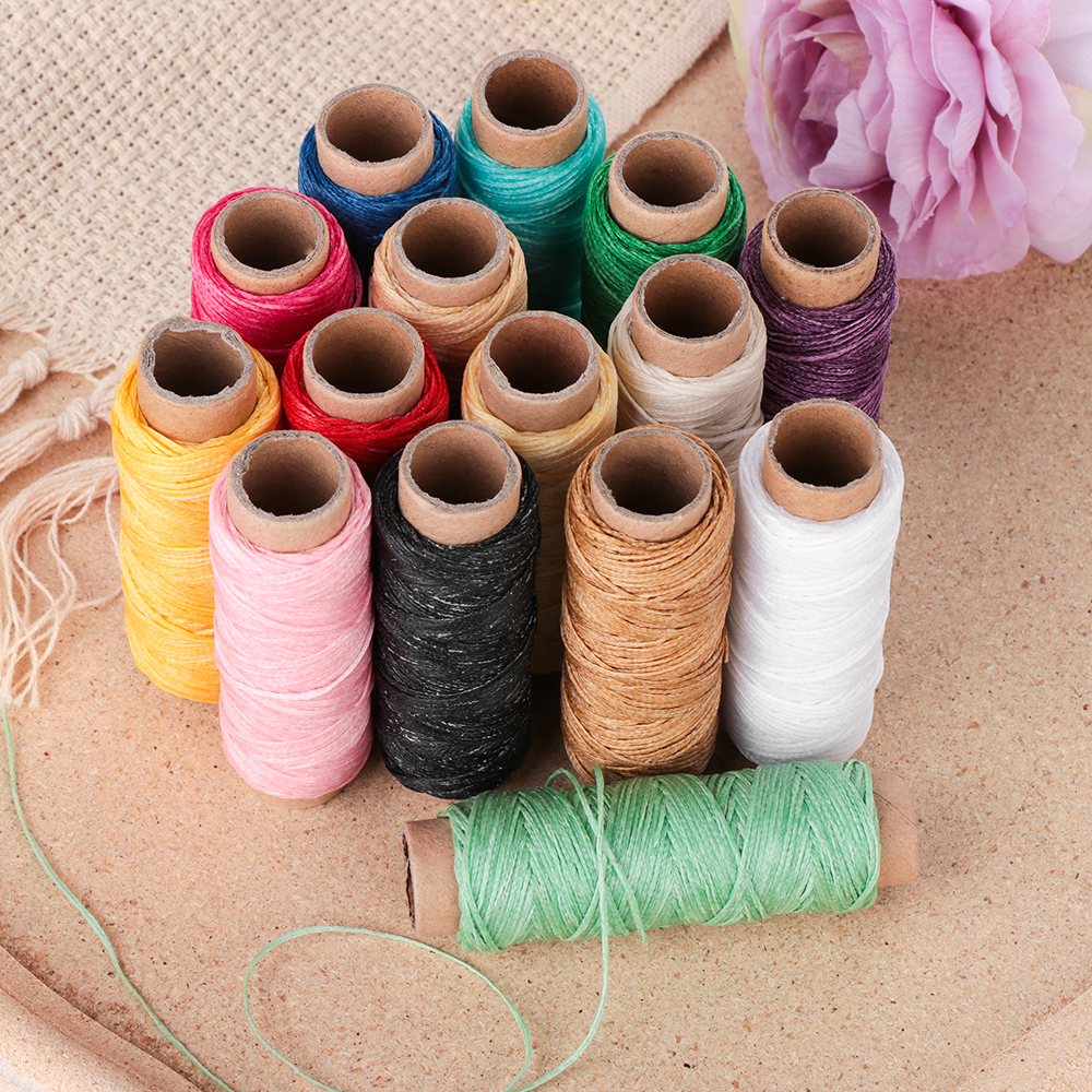 30m/Roll 1mm Durable Waxed Thread Cotton Cord String Strap Hand Stitching Thread For Leather Material Handcraft Tool(China)