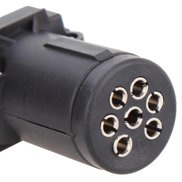 High Quality 7 Pin 12v Plug Round    Square Copper