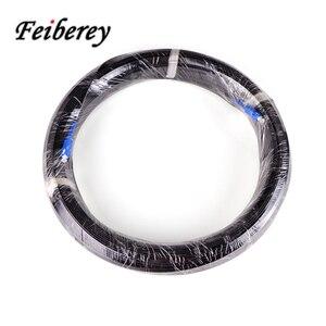 Image 5 - 200 metre Fiber optik saplama kablo SC/UPC Singlemode Simplex kelebek şekli açık uzun mesafe üçlü çelik tel optik kablo