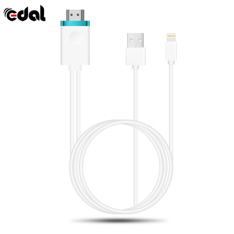EDAL USB to HDMI Digital AV Cable Phone Tablet To Big Screen TV AV Cable Adapter 1080P HD Cord Video Movie Supplies For iPhone X image