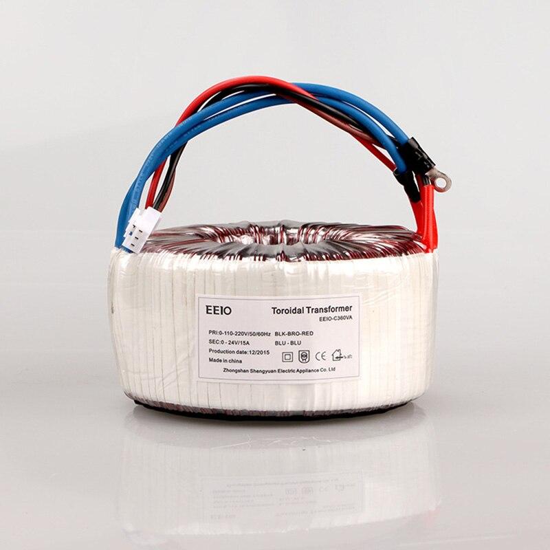 AC 110V 220V to AC 24V 15A Ring Transformer 360VA Pure Copper Ring Power Transformer For Power Supply Amplifier