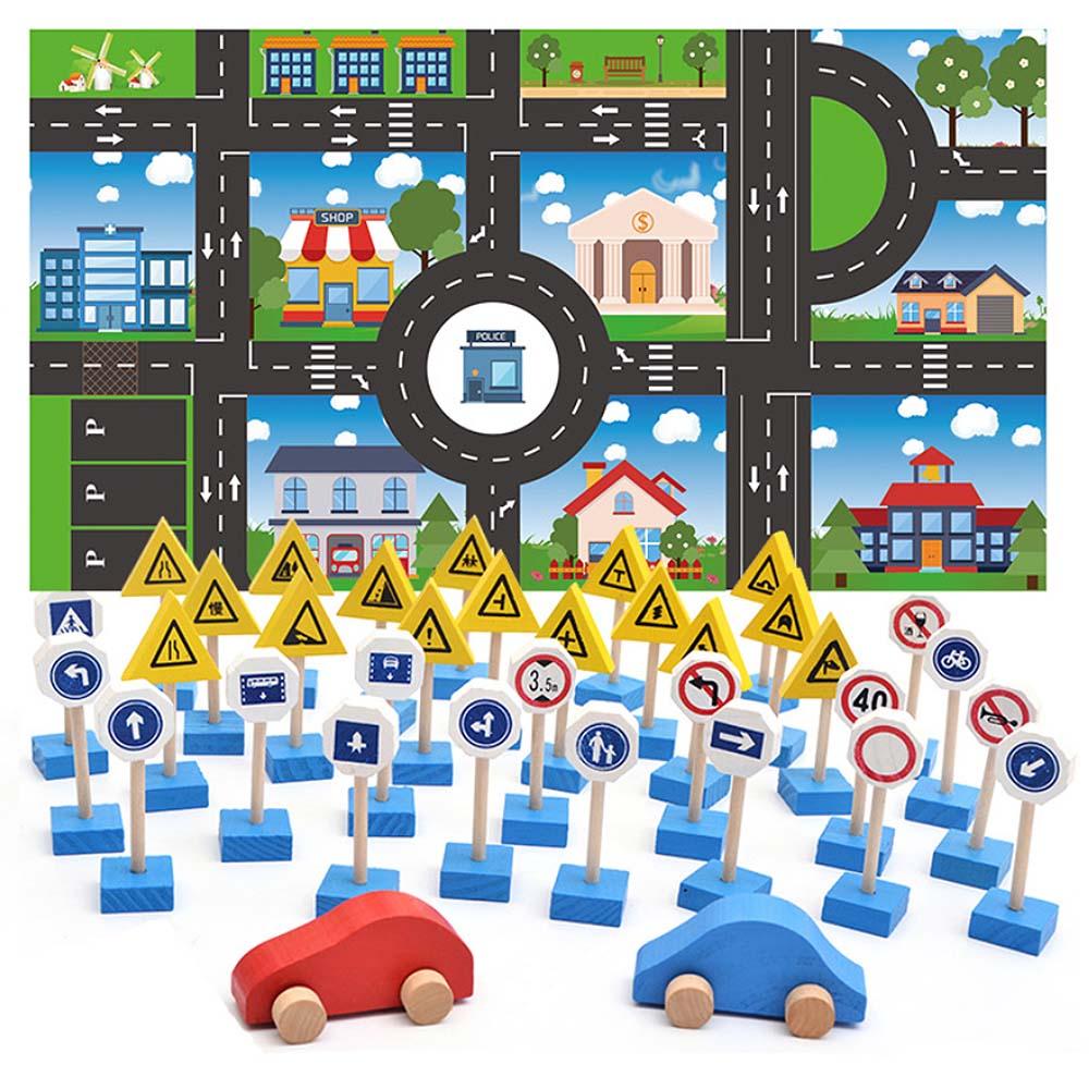 Actief Verkeer Indicatie Straatnaamborden Hersenen Spel Kleuterschool Verkeersborden Vroege Onderwijs Kennis Verlichting Speelgoed Goede Warmteconservering