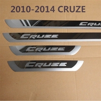 Door Sills for Chevrolet 2010 2011 2012 2013 2014 Cruze Scuff Plates Cover Car stickers CRUZE External padel Car Styling