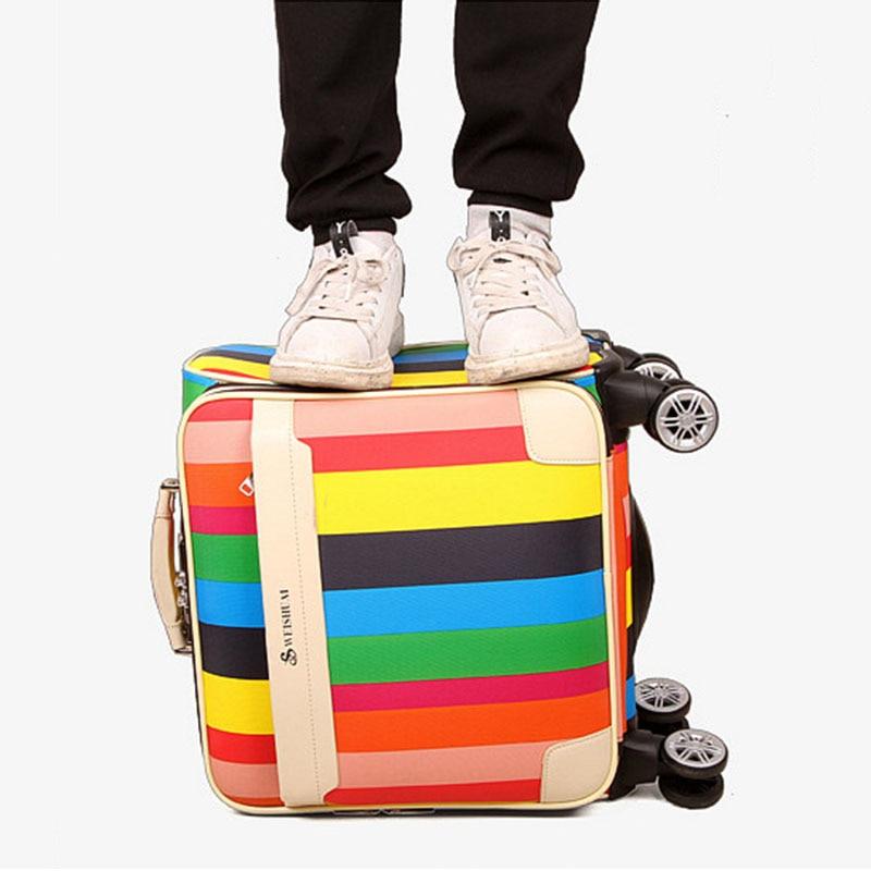 16 polegada rainbow stripe-carry ons Tipo de Item : Bagagem