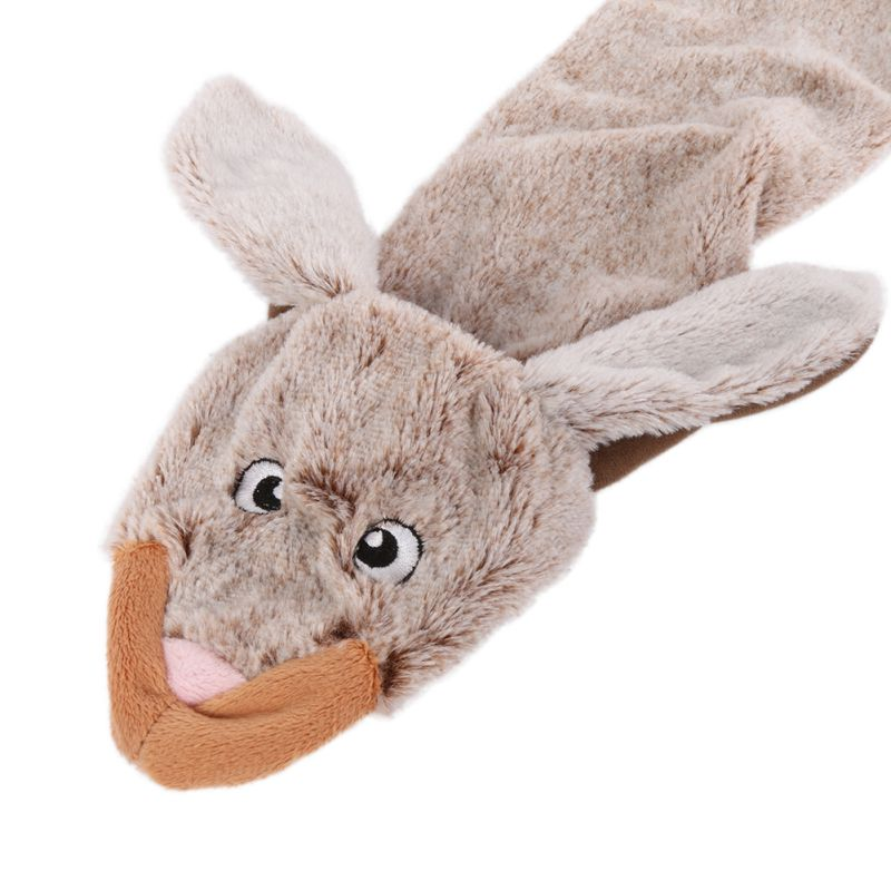 Cute Wolf Toys Stuffed Squeaking Animals Pet Toy Plush Rabbit Honking Squirrel For Dogs Chew Squeaker Squeaky Dog Toys #5