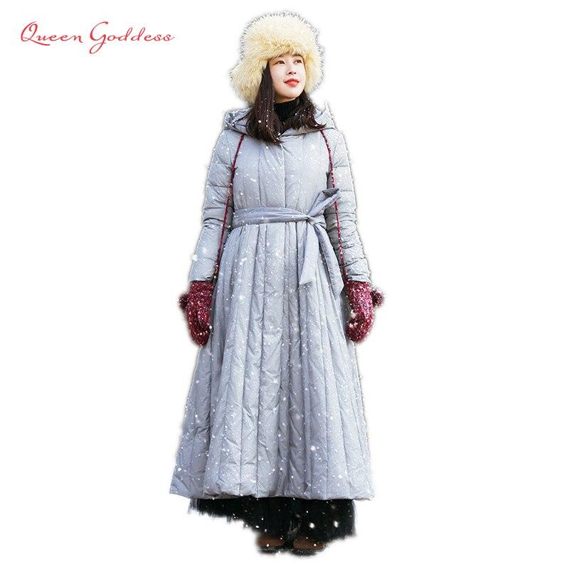 Soft Fabric Winter Plus Size Down Coat Women Parkas Female
