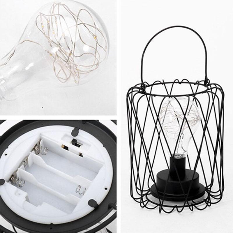 Litake criativo estilo retro lâmpada de mesa