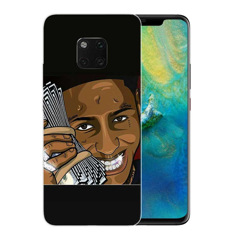 TPU Silicone Phone Back Cases For Huawei Mate 20X 20 10 9 Pro 8 7 Shell Hull Heart Bumper Cover YoungBoy Never Broke Again Lil B in Fitted Cases from Cellphones Telecommunications