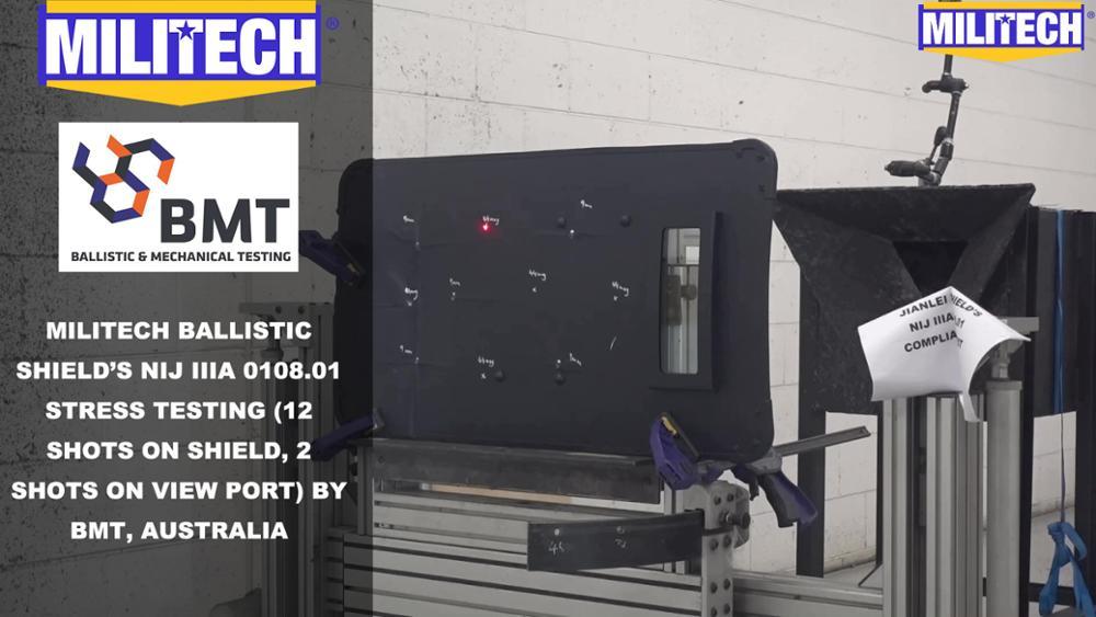Test Video--Militech NIJ IIIA 0108.01 Ballistic Shield Testing Video Presented By BMT,Australia