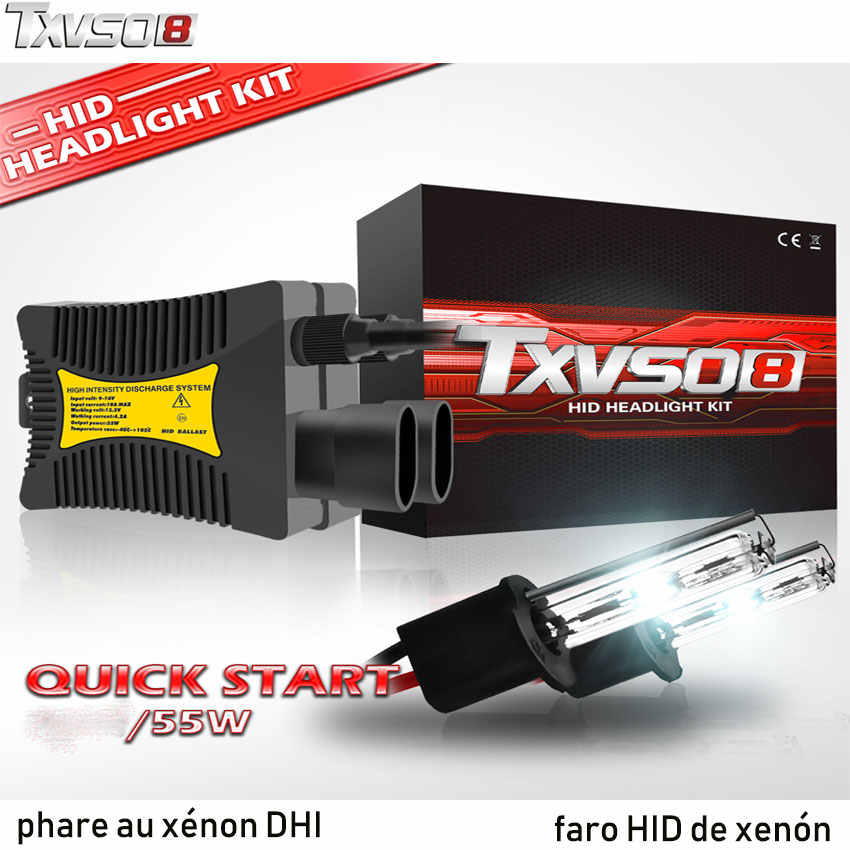 TXVSO8 2PCS H7 xenon HID H4 Bulb Car Headlight kit bombilla 4300K 5000K 6000K 12V 55W Auto luces Headlamps 8000K Fog Light Bulbs