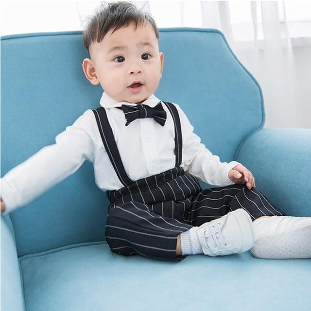 Herbst Langarm Jungen Anzug Jungen 1 Jahr Geburtstag Gentleman Stil