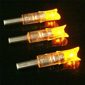 Image 2 - 3/6 sztuk automatycznie oświetlony kuszy strzała Nock łuk String aktywowany kuszy śruby Nock Led strzała Nock do ID7.6mm strzałka wału