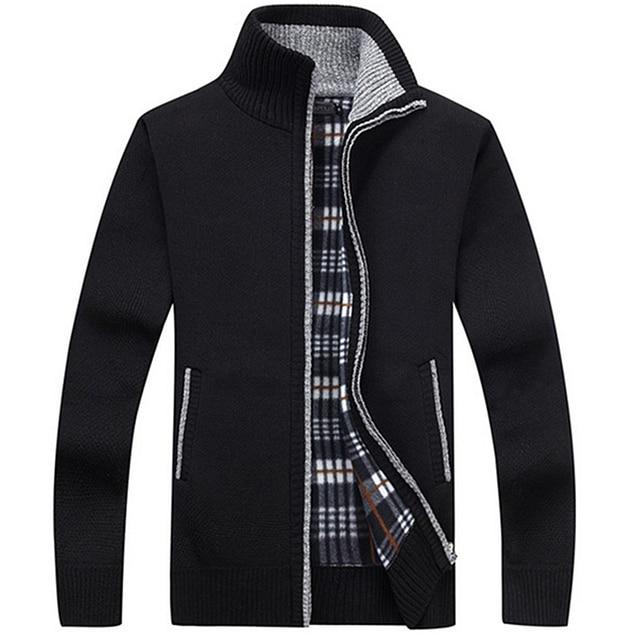 Cardigan men jacket cashmere+wool sweater Men 4
