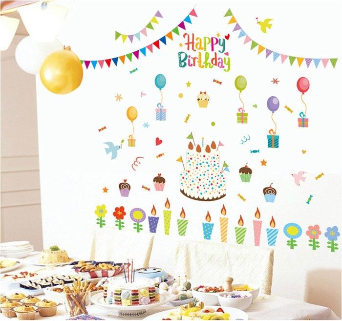 Buy Fundecor Diy Home Decor New Design Happy Birthday Holiday Wall Sticker