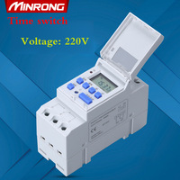 MINRONG Brand Microcomputer Electronic Weekly Programmable Digital TIMER SWITCH Time Relay Control 220V AC 16A Din